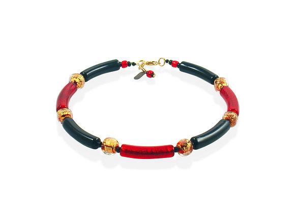 Rosso Nero Anello Necklace