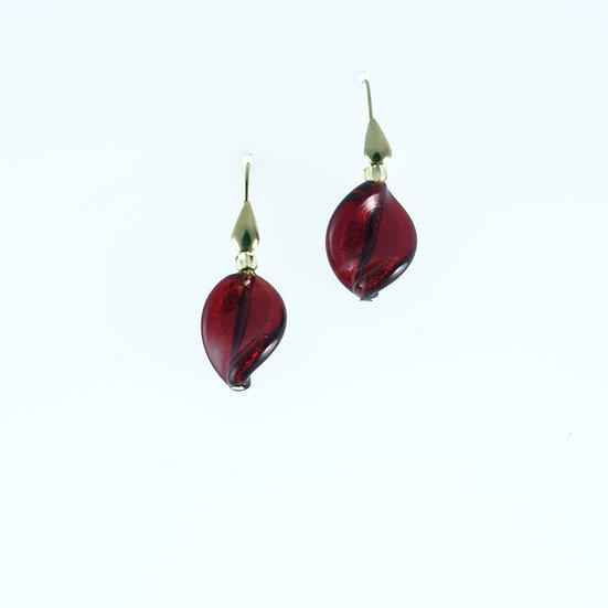 Rosso Foglia Earrings