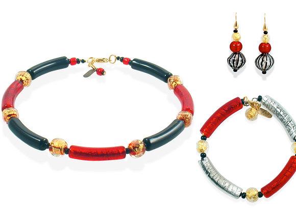 Nero Rubino Sommerso Jewelry Set