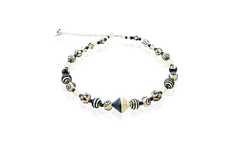 Nero Oro Diamante Lume Necklace