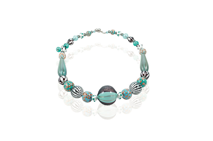 Smeraldo Nero Battuto Necklace