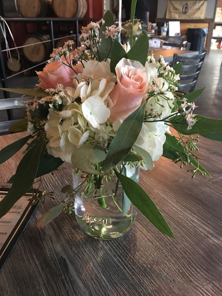 Centerpieces for birthday party at Lost Tavern Brewing in Heller