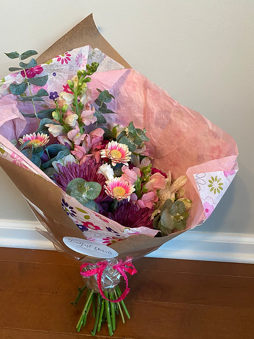 Mother's Day Wrapped Bouquet