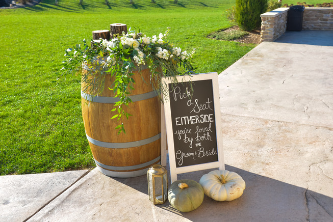 Wine Barrel Arrangement