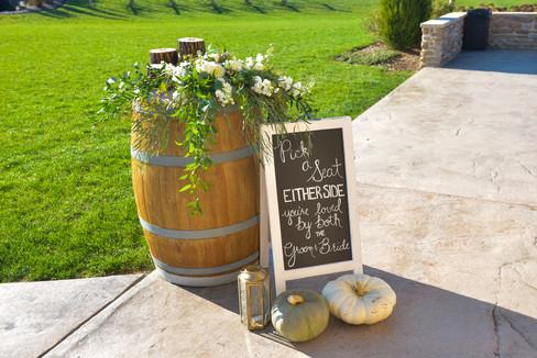 Wine Barrel Arrangement