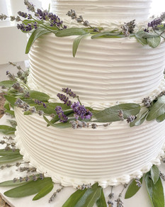 Wedding Cake - fresh sage and fresh and dried lavender