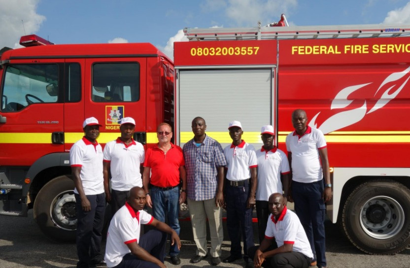 Training a new cohort on the supplied fire fighting vehicles