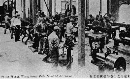 1919 金属工芸科へ改名称 板金工場