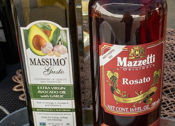 Massimo Gusto Extra Virgin Avocado Oil w/Garlic