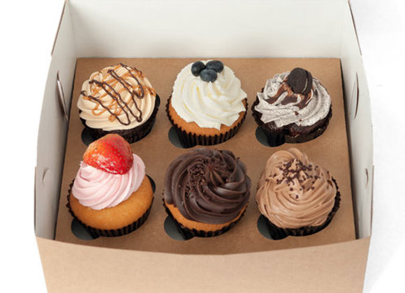 LCB - Cupcakes (6) Assortment