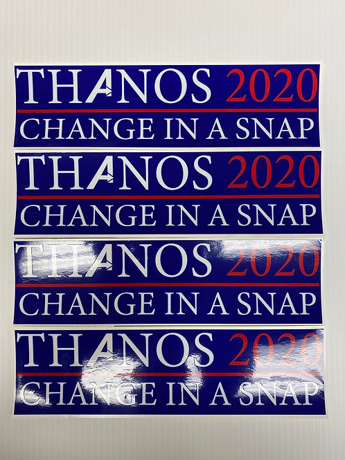 THANOS 2020 decals! (4 pack)