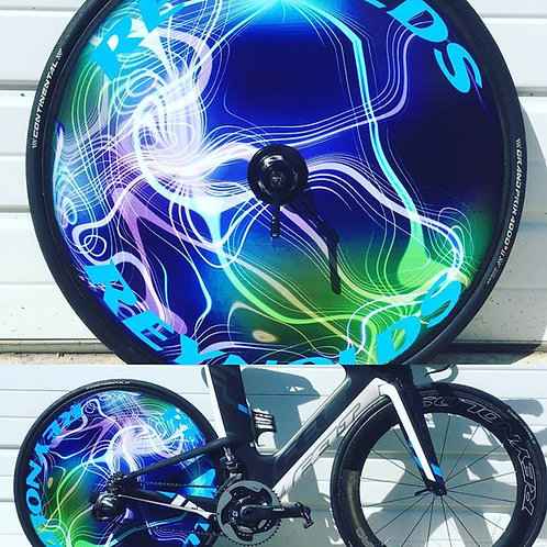 Disc Wheel Skin with Aero Front Wheel
