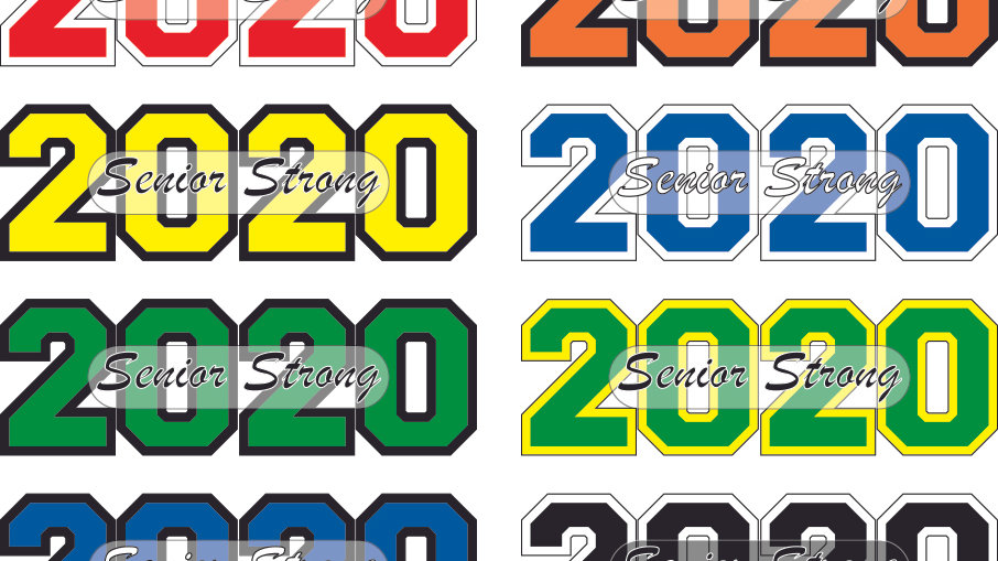 2020 SENIOR STRONG STICKERS 5 pack