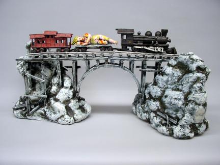 Art Train (homage to Viola Frey)