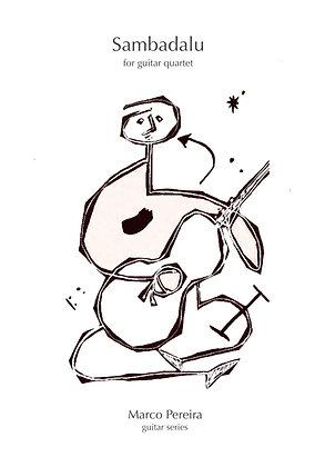 SAMBADALU  for guitar quartet