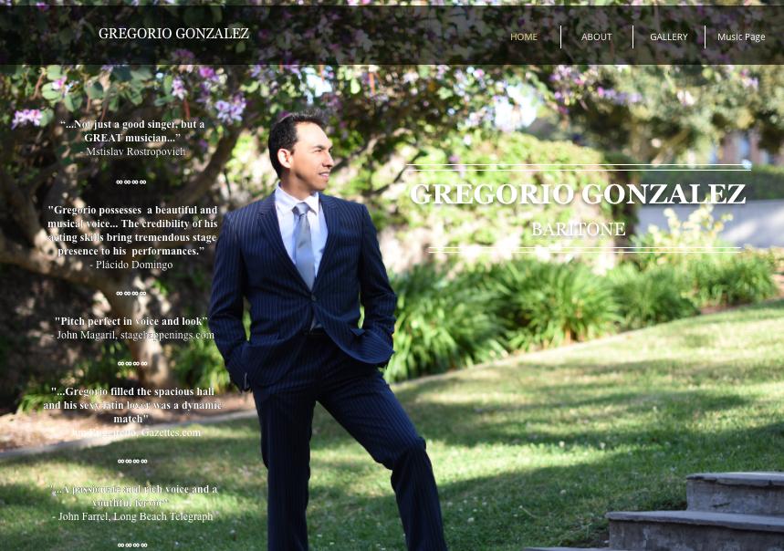 ABOUT | Gregorio Gonzalez, Baritone