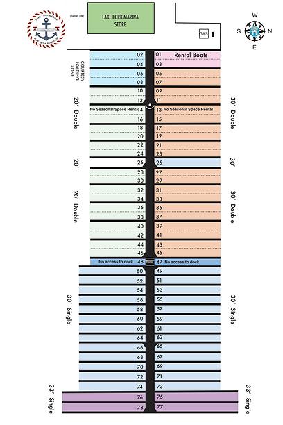 LFM DOCK SLIP CHART SEASONAL CHART 2021-