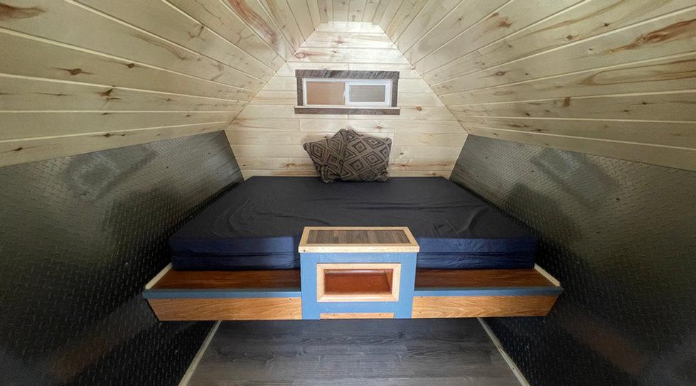 Inside Queen Bed