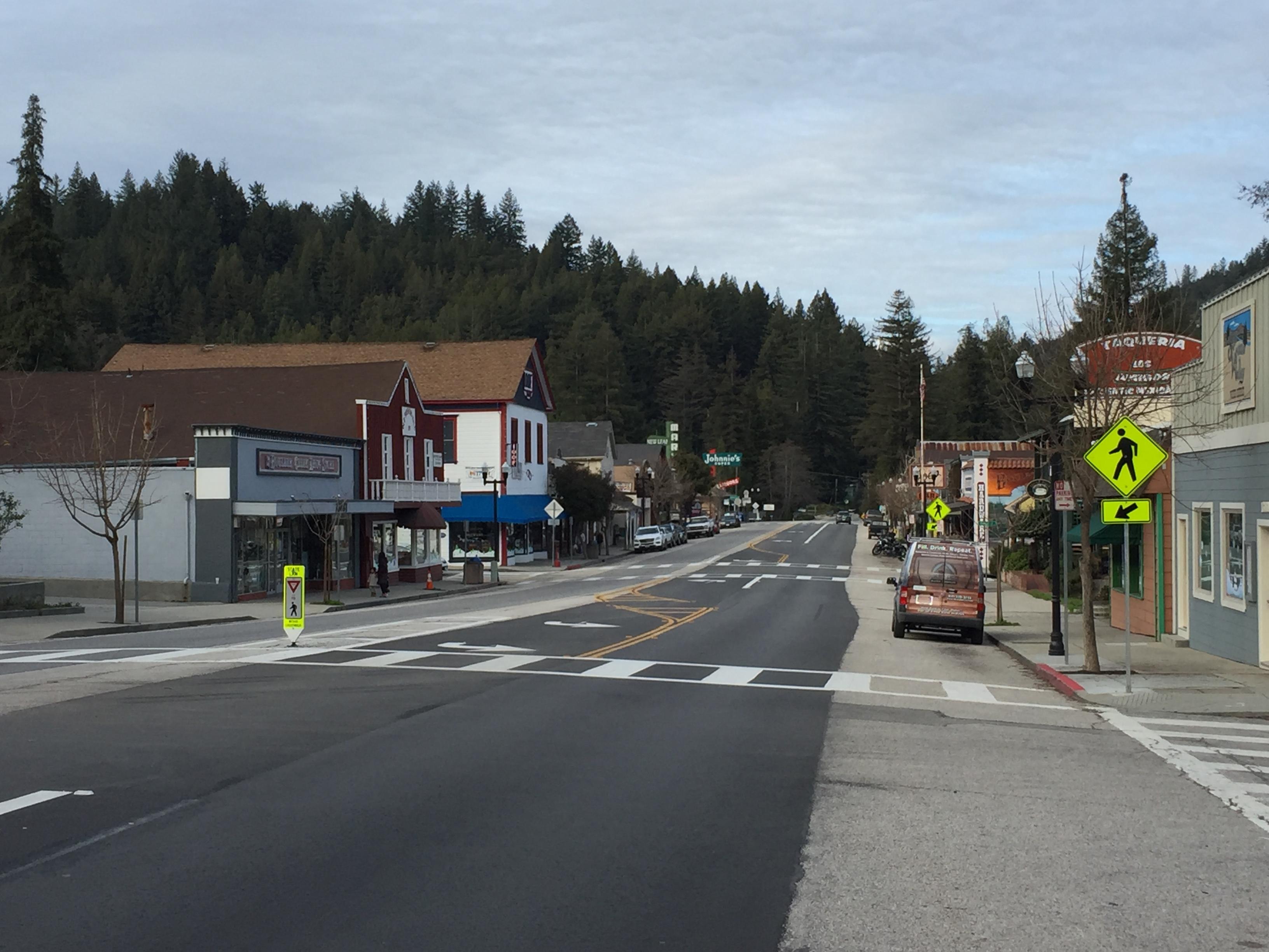 Highway 9 in Boulder Creek