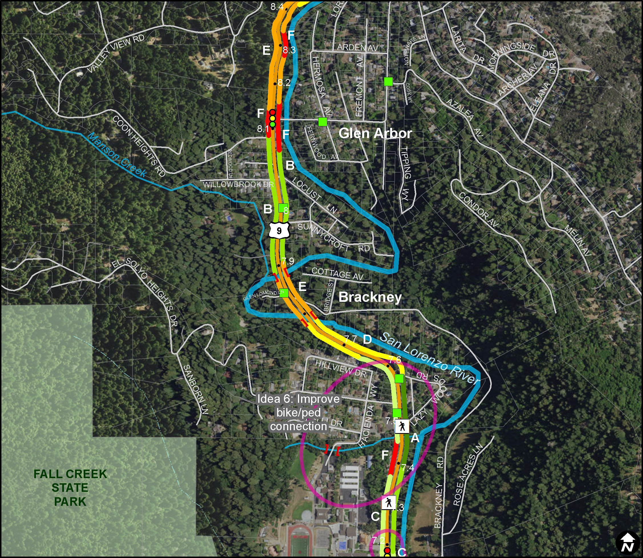 Route Conditions Study Map