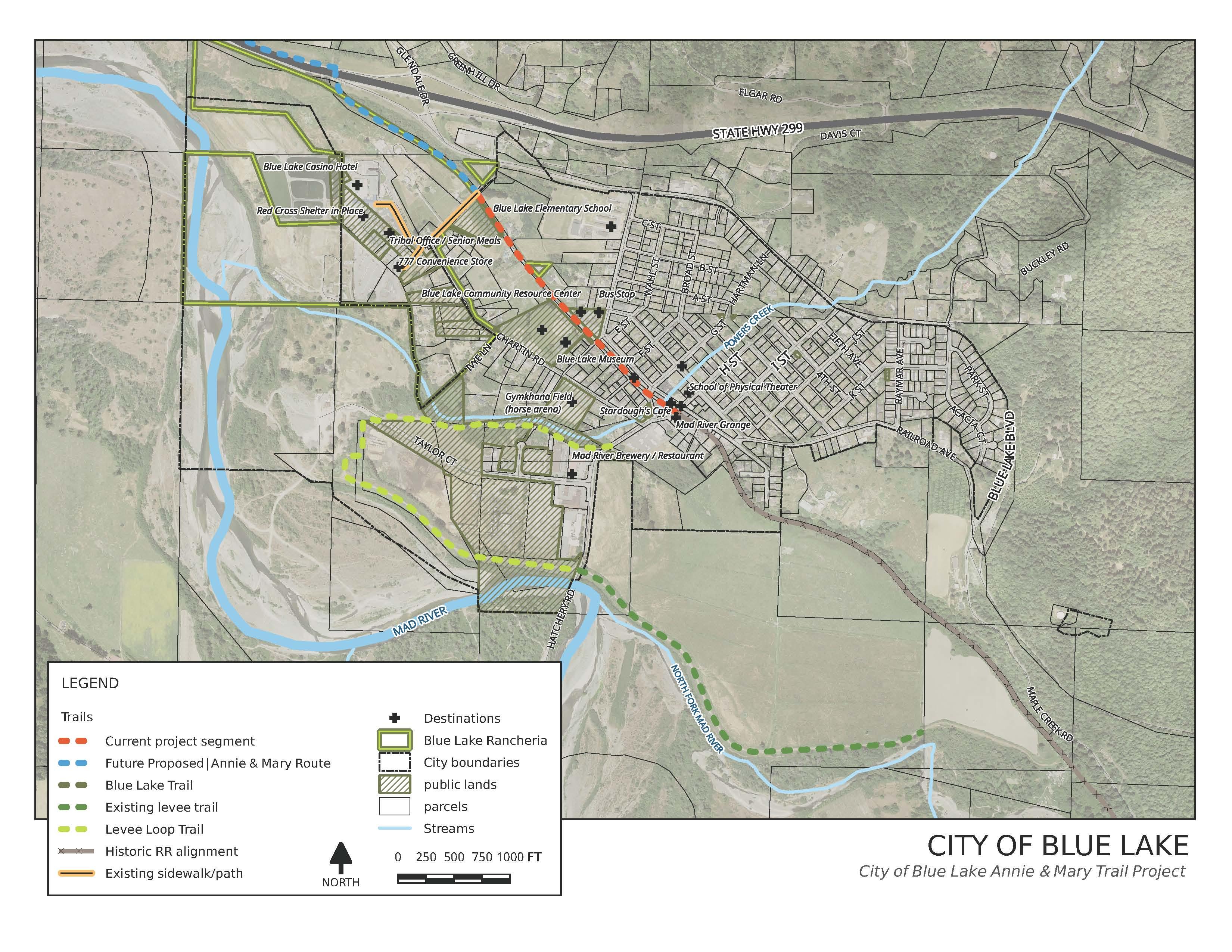 City of Blue Lake Map