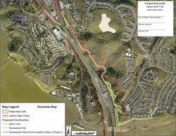 Vallejo Bluff Trail Project Area Limits Map