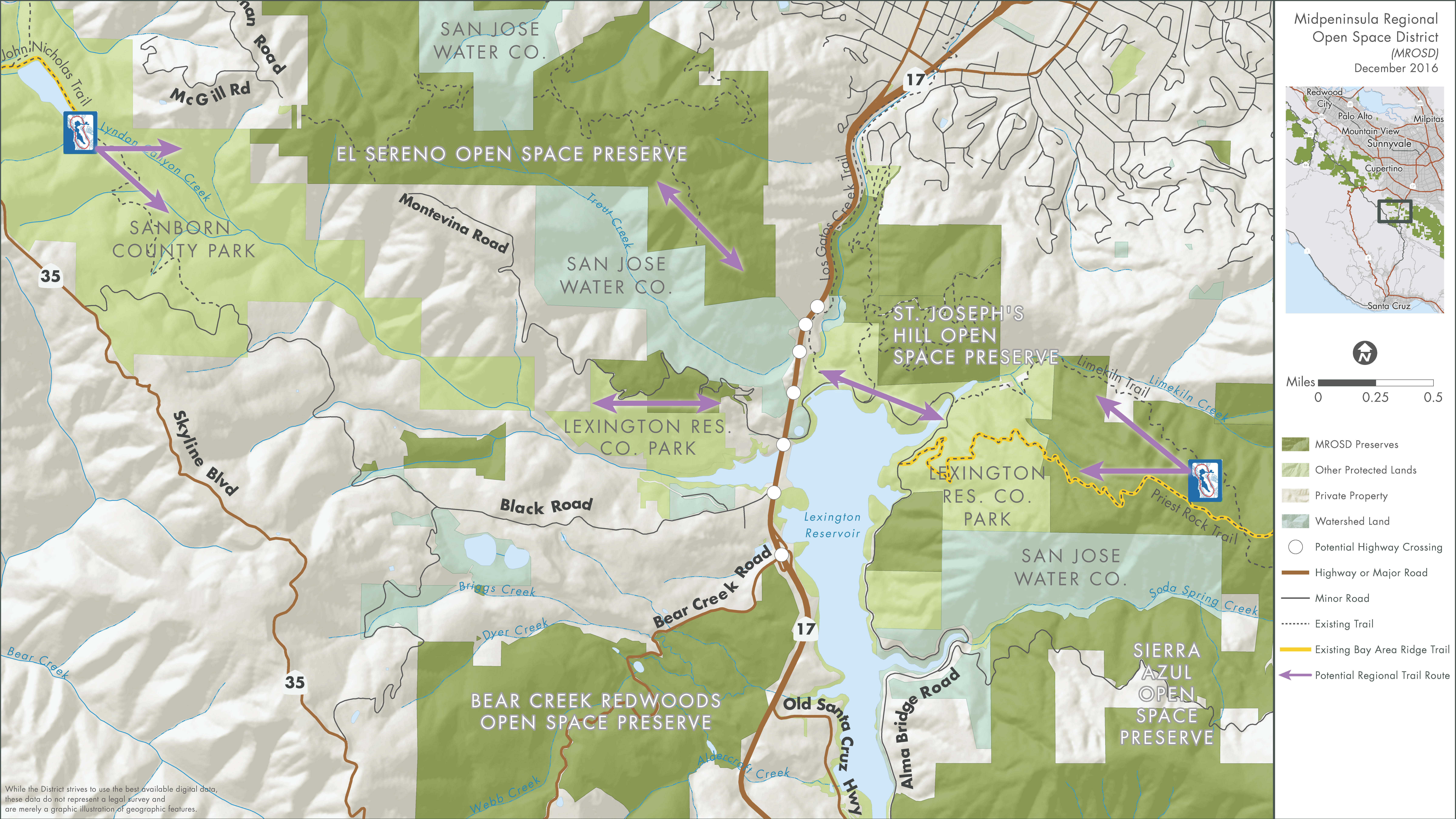 Hwy 17 Crossing Alternatives Map