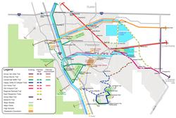 Trails System Diagrammatic Map