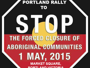 Rally to support Aboriginal Communities in WA