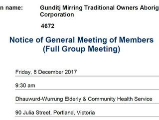 Full Group Meeting 8 December