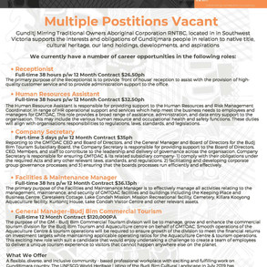 Multiple Positions Vacant @ GMTOAC