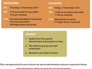 Special Administration Information Meetings