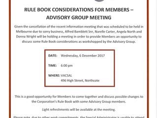 Melbourne Information Meeting