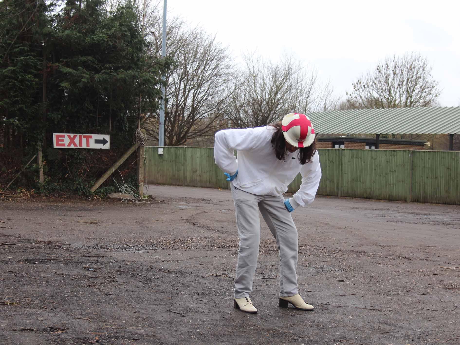 Fool in Hanwell FC Carpark