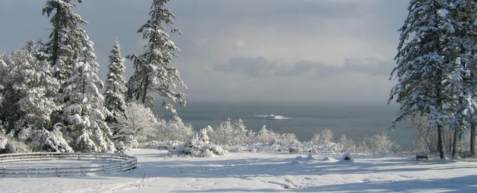 Looking southeast from the farm across the Strait of Juan de Fuca towards the USA.
