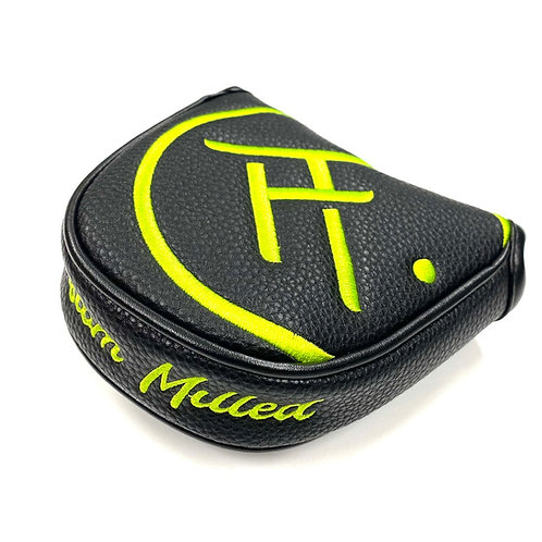 SM 1/2 Mallet Headcover (Black/Lime Green)