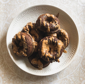 BREAKFAST   Chocolate Nut Butter Protein Donuts
