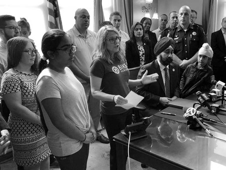 Mayor Bhalla Signs Executive Order Launching Vision Zero Safety Campaign