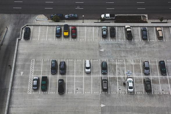 half full parking lot