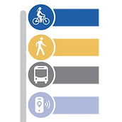 Mobility goal icon: Transportation options