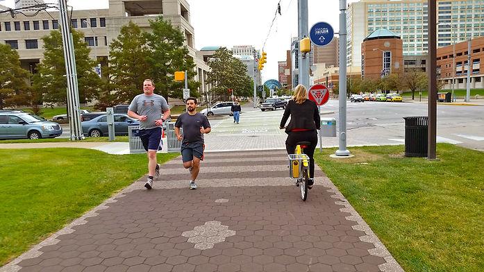 bike and pedestrian path
