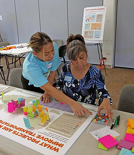 Maui woman taking part in a public input event