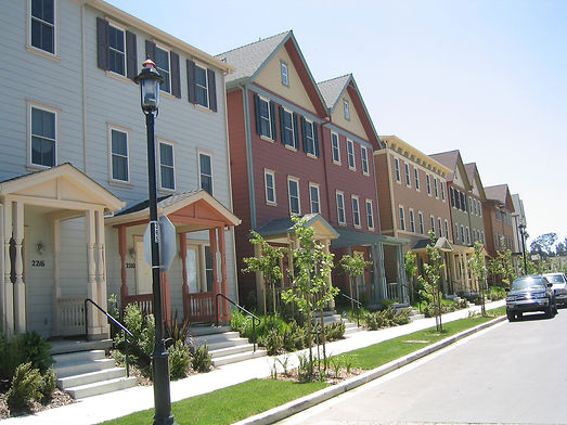 suburban street with minimal parking