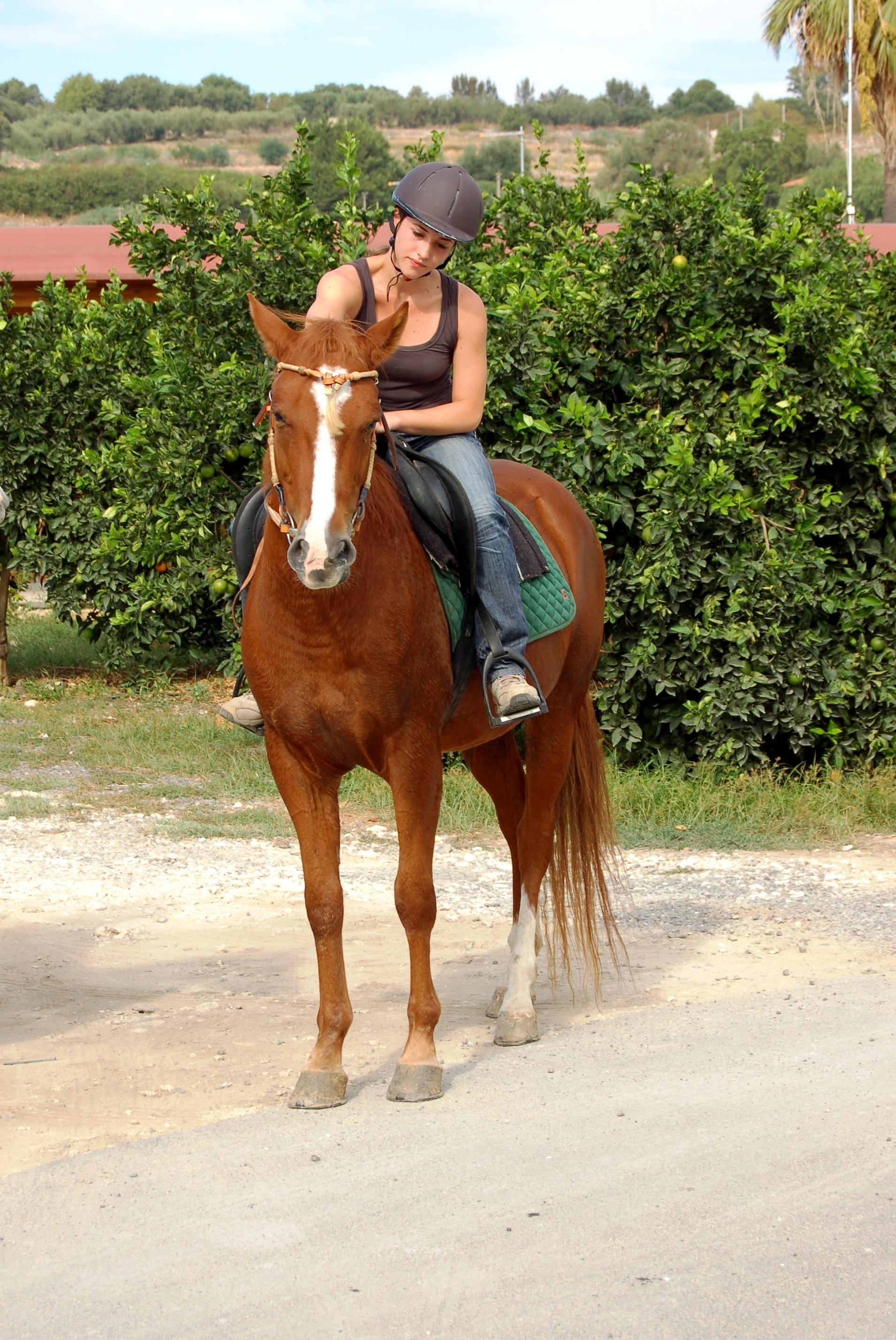 Valeria a cavallo