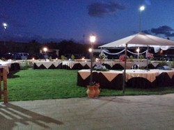 Meadow set for wedding