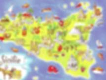 Mappa turistica della Sicilia