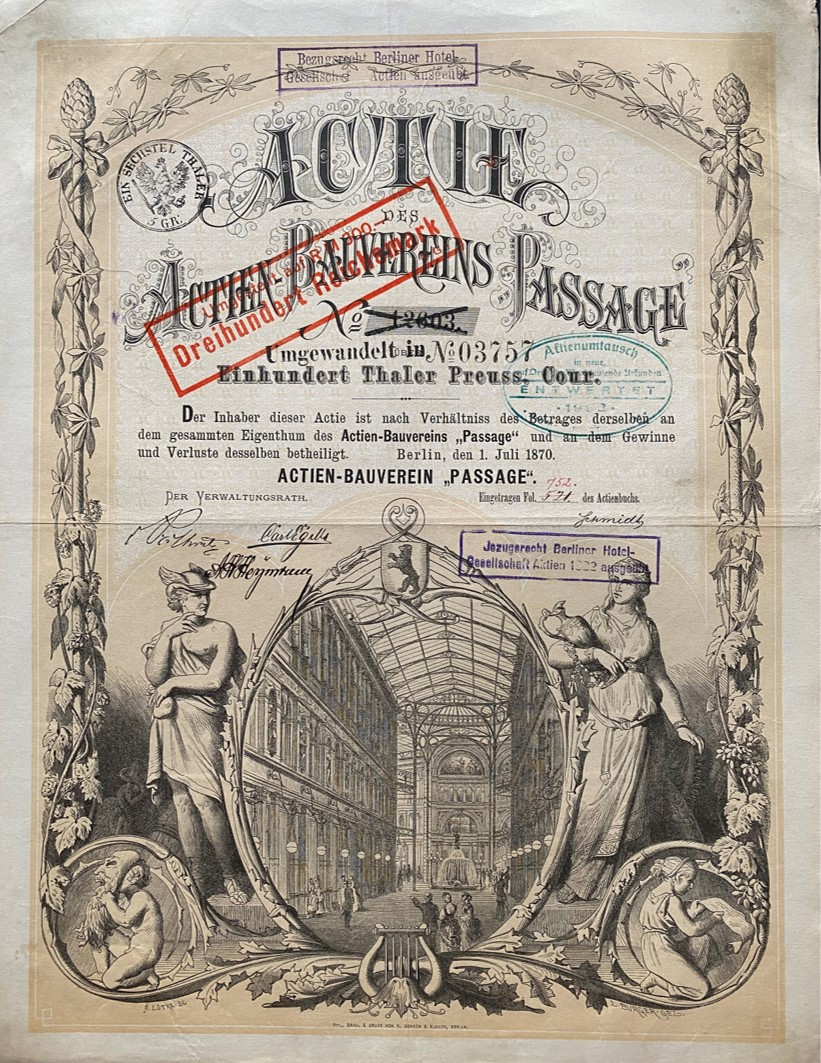 Actien-Bauverein Passage, 1870
