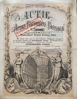 Actien-Bauverein Passage, 1870