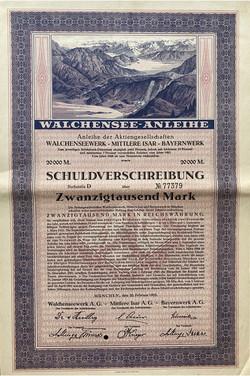 Walchensee-Anleihe, 1923