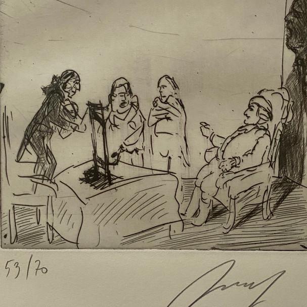Ludwig XVI. genehmigt die Guillotine
